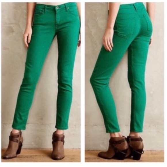 Ag Adriano Goldschmied Pants - AG | Stevie Slim Straight Kelly Green Cords | 27